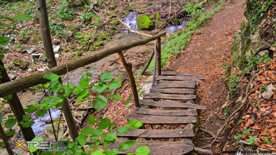сливодолското падало стълбите